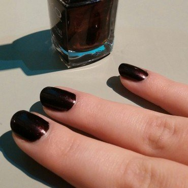 Dark plum nail art by Poppy Battley
