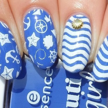 Sailor nail art by Plenty of Colors