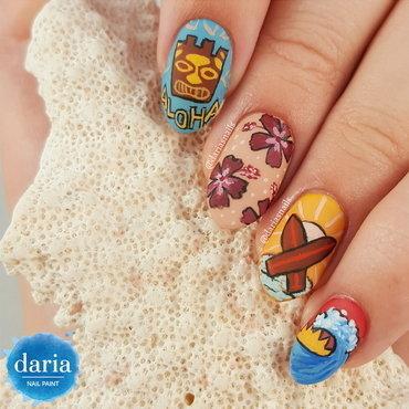 Aloha! nail art by Daria B.