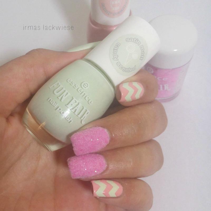 chevron & cotton candy nail art by irma