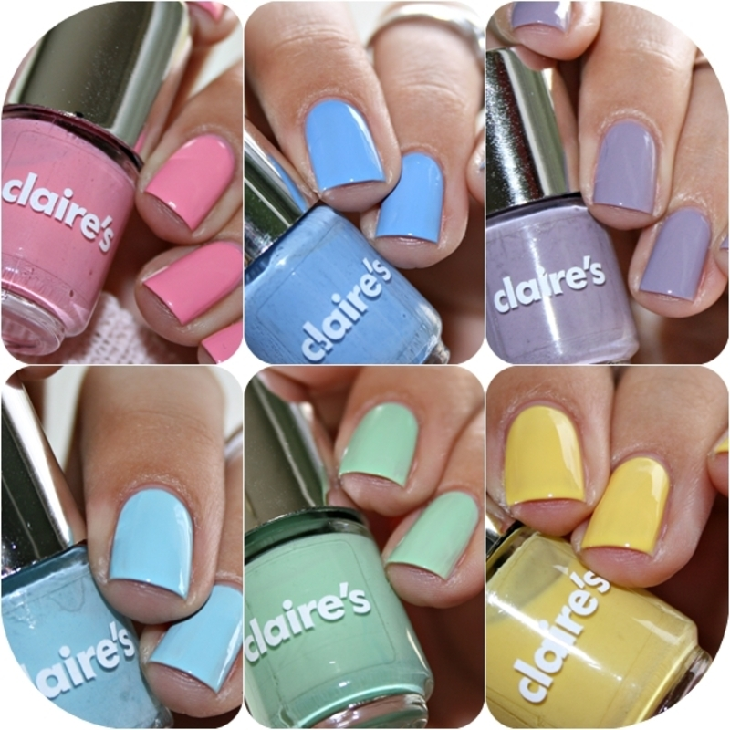 Claire's 6 pack Nail Polish Pastels Swatch by Romana