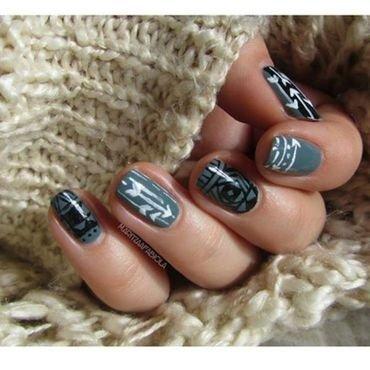 arrows nail art by Mary