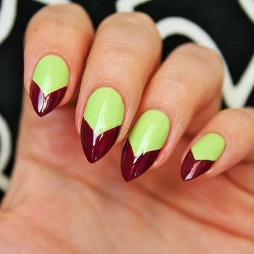 Lime cherry nail art by Jane
