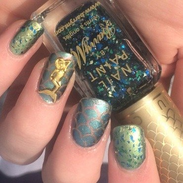Mermaid Tears nail art by allwaspolished