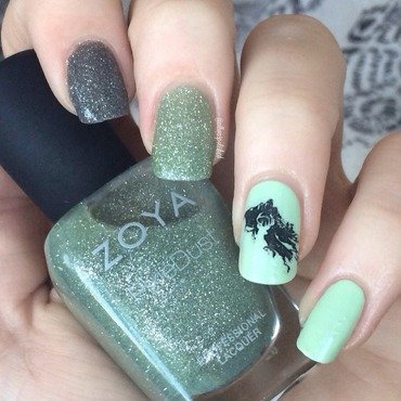 Dementors nail art by allwaspolished