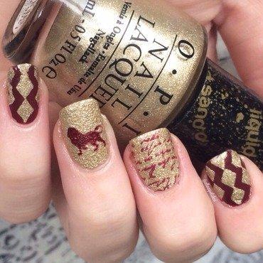 Gryffindor nail art by allwaspolished