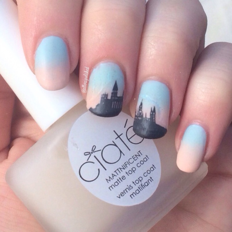 Hogwarts nail art by allwaspolished
