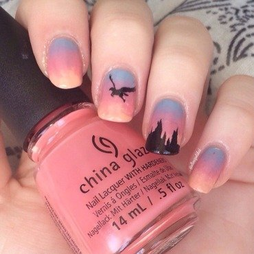 Hippogriff nail art by allwaspolished