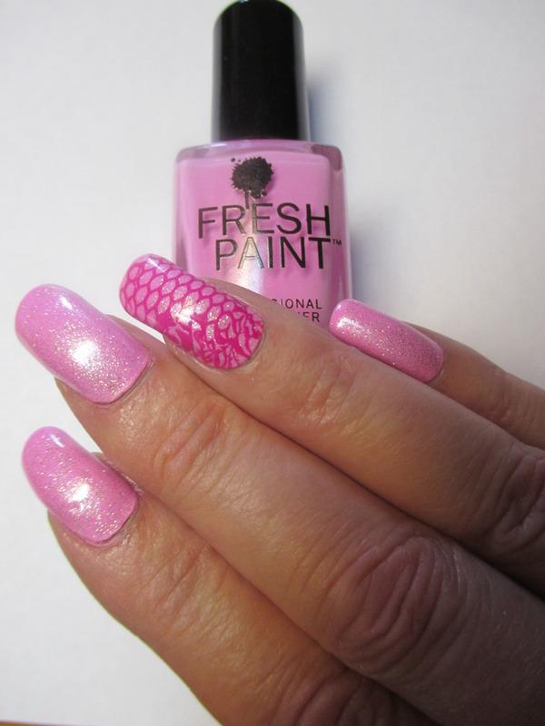 Glitter Passion nail art by NinaB