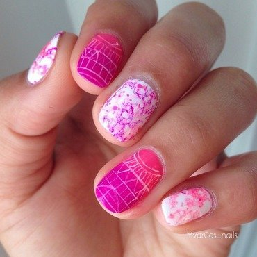 Mix and match  nail art by Massiel Pena