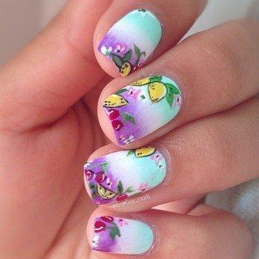 Lemons & cherry 🍋🍒 nail art by Massiel Pena
