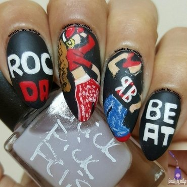 ROC DA BEAT nail art by Milly Palma