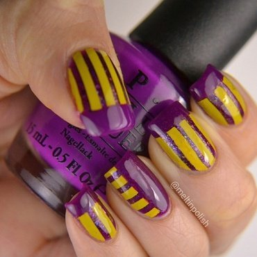 Purple shock!  nail art by Meltin'polish