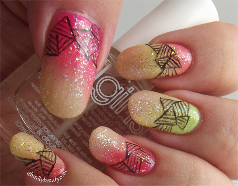 Abstract Triangles nail art by Ithfifi Williams