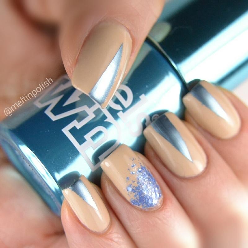 Triangles of Sky! nail art by Meltin'polish