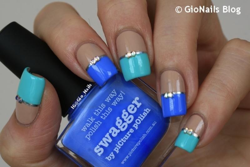 Color Block nail art by Giovanna - GioNails