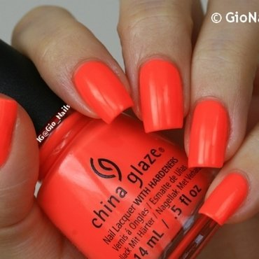China Glaze Red- y To Rave Swatch by Giovanna - GioNails