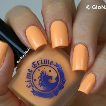 Lime Crime Peaches ♥ Cream Swatch by Giovanna - GioNails