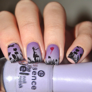 Girl in the Meadow  nail art by Lackopfer