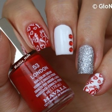 VDay Nails Collab nail art by Giovanna - GioNails