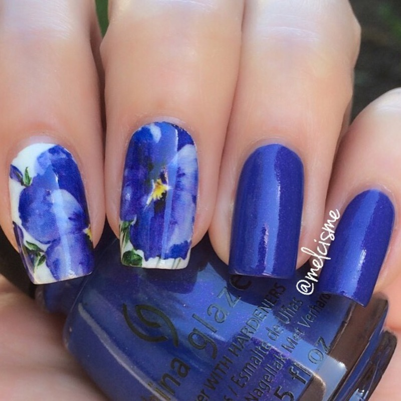 Floral nail art by Melissa