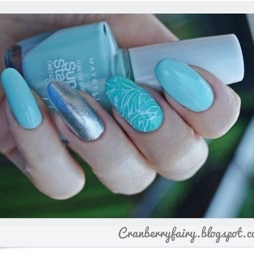 Mint&Mint nail art by Cranberry Fairy