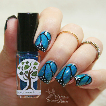 Butterfly Nails nail art by Polishisthenewblack