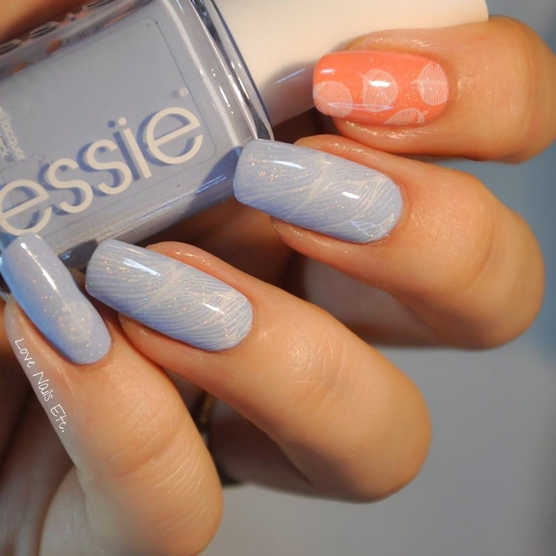 Pastel Leaves nail art by Love Nails Etc