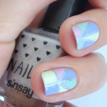 Pastels and holo  nail art by Kasia