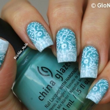 Delicate Flowers nail art by Giovanna - GioNails