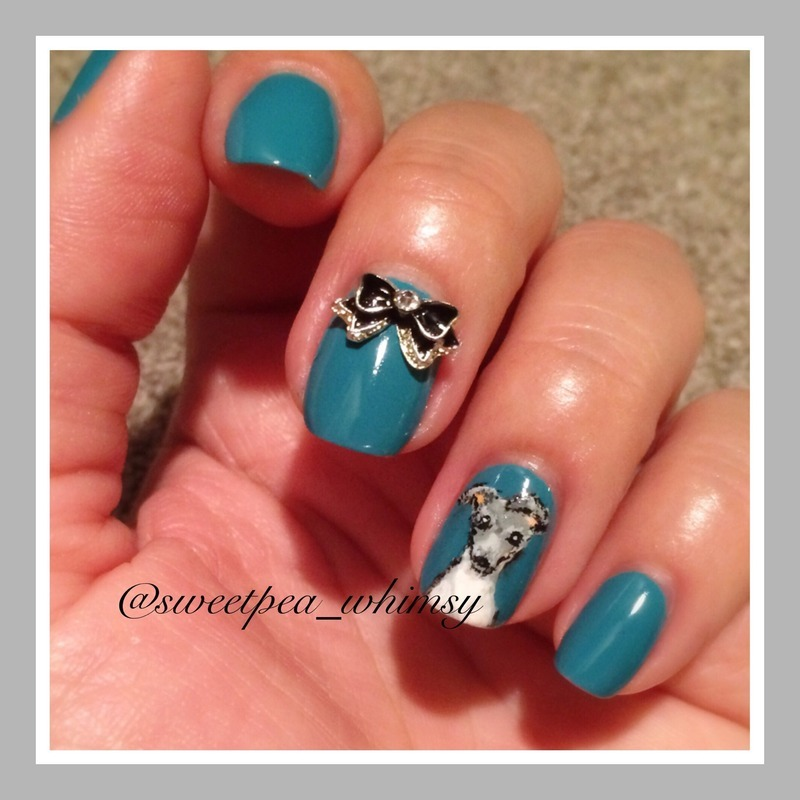 My Italian Greyhound Thea Nail Art By Sweetpeawhimsy Nailpolis