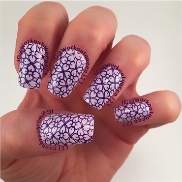 Purple and Purple nail art by Workoutqueen123