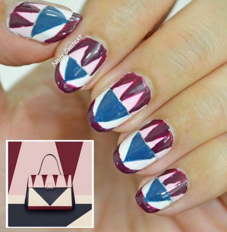 Valentino Inspired Nails nail art by NailsContext