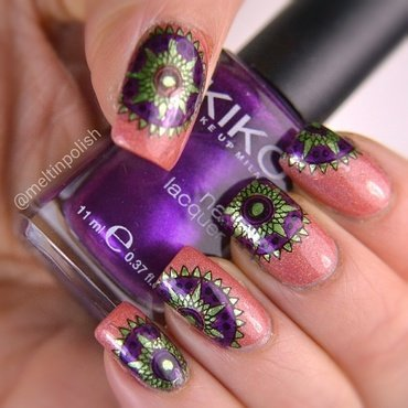 Mandala nail art by Meltin'polish
