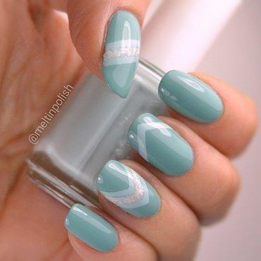 Tiffany's Treasure nail art by Meltin'polish