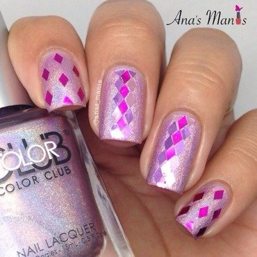 Glitter placement nail art by anas_manis