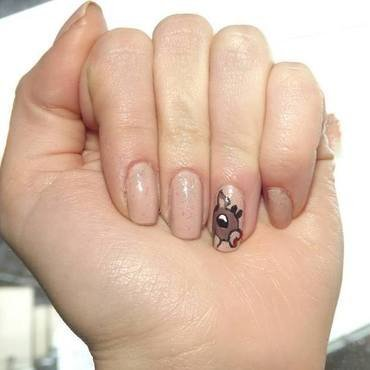 Bambi deer nail art by cristaald