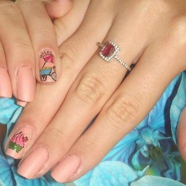 Heladooo!!!! nail art by cristaald