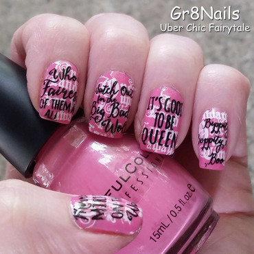 Once Upon a Time nail art by Gr8Nails