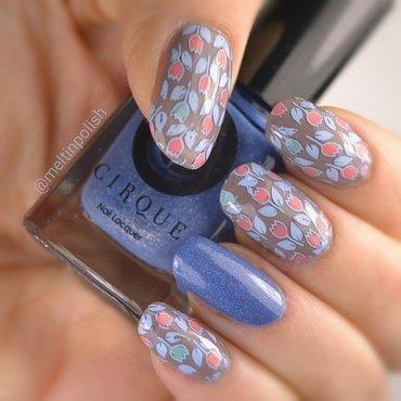 Serenity nail art by Meltin'polish