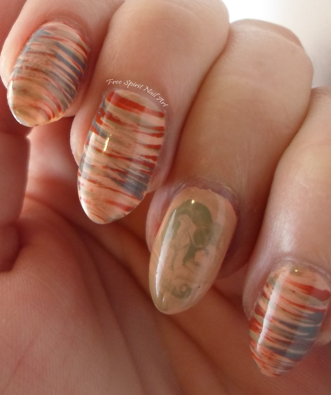 Sandstone Mani nail art by Free_Spirit_Nail_Art