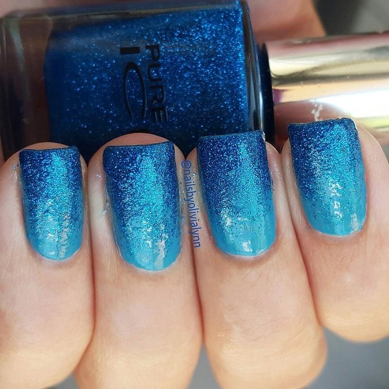 Glitter Gradient  nail art by Olivia D.