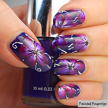 Navy magenta flowers thumb370f