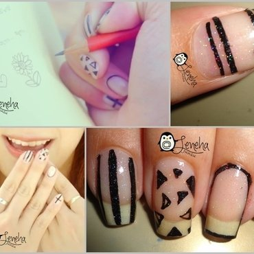 Negative Space Nails nail art by Leneha Junsu