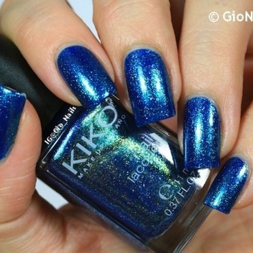 Kiko 530 Pearly Blue Peacock Swatch by Giovanna - GioNails