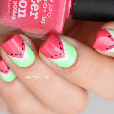 Watermelon nail art by Mary Monkett