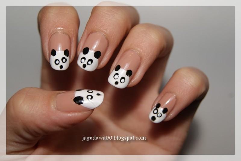 Pandy nail art by Jadwiga