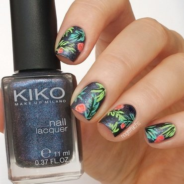 Tropical design inspired by pshiiit nail art by nagelfuchs