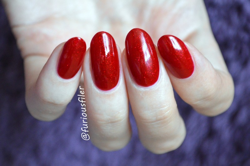 Sally Hansen Red Carpet Swatch by Furious Filer