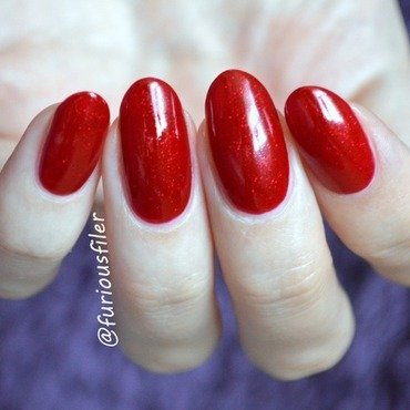 Sally Hansen Red Carpet Swatch by Furious Filer
